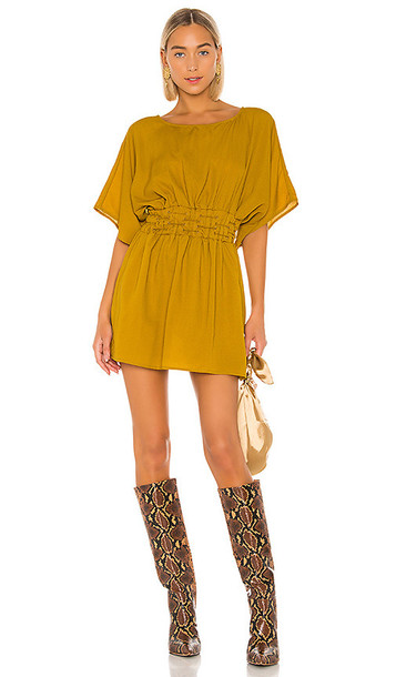 Tularosa Sienna Dress in Mustard