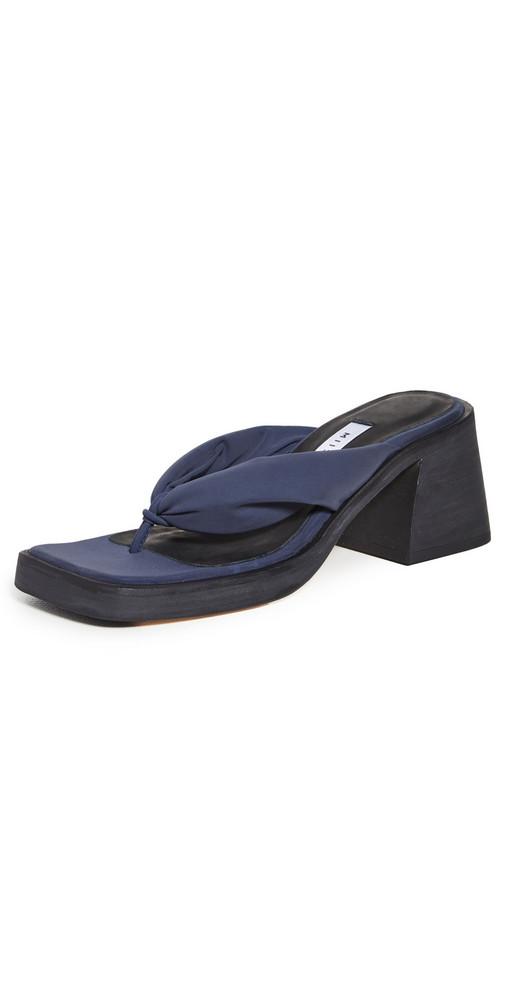 Miista April Heeled Thong Sandals in black