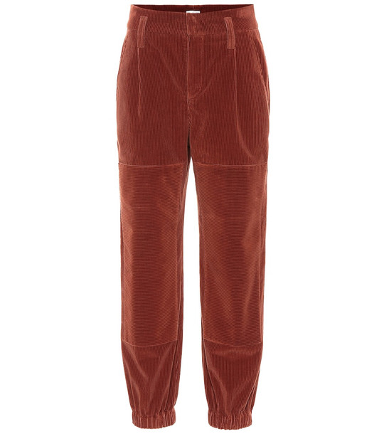 Brunello Cucinelli High-rise corduroy pants in brown