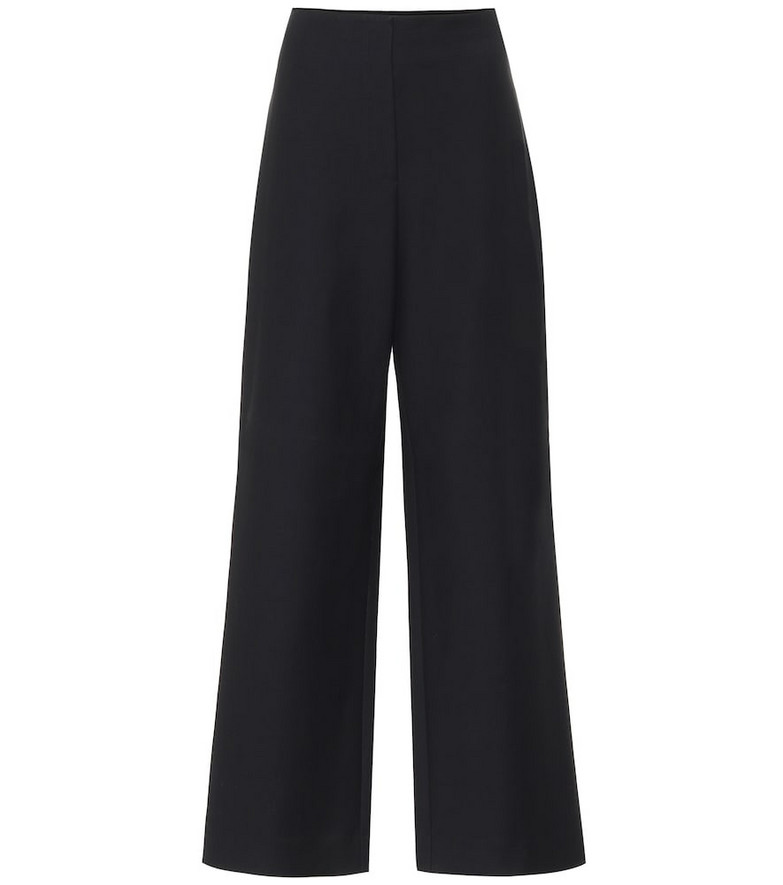 The Row Rooka wide-leg cotton twill pants in black