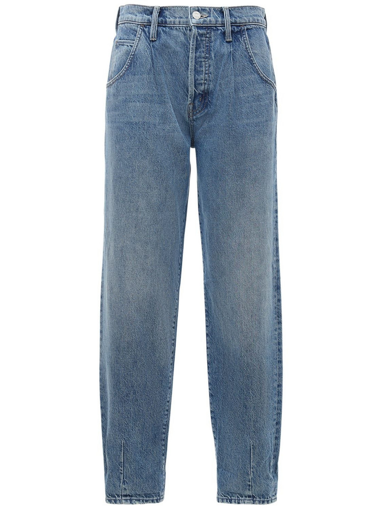 MOTHER The Bounce Hover Dart Baggy Jeans in blue