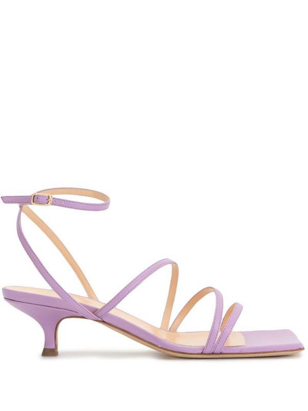 A.W.A.K.E. Mode square-toe strappy sandals in purple