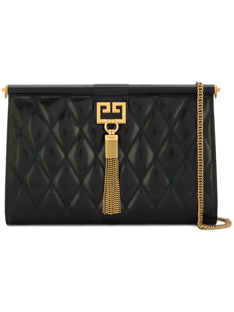 Givenchy Gem Quilted Shoulder Bag in black
