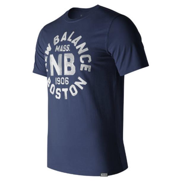 New Balance 71506 Men's Boston Tee - Navy (MT71506NV)