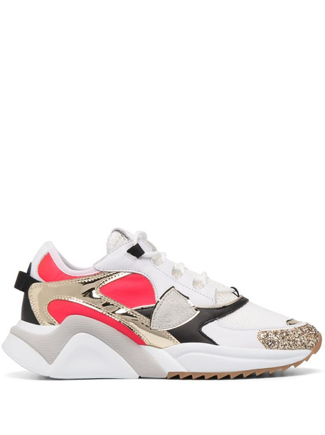 Philippe Model Paris panelled trainers with glitter detail in white