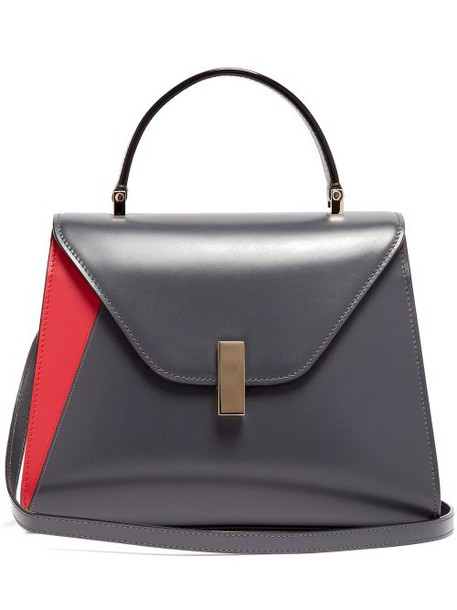 Valextra - Iside Medium Leather Bag - Womens - Grey Multi