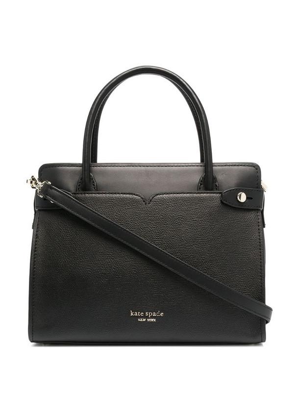 Kate Spade classic medium leather satchel in black