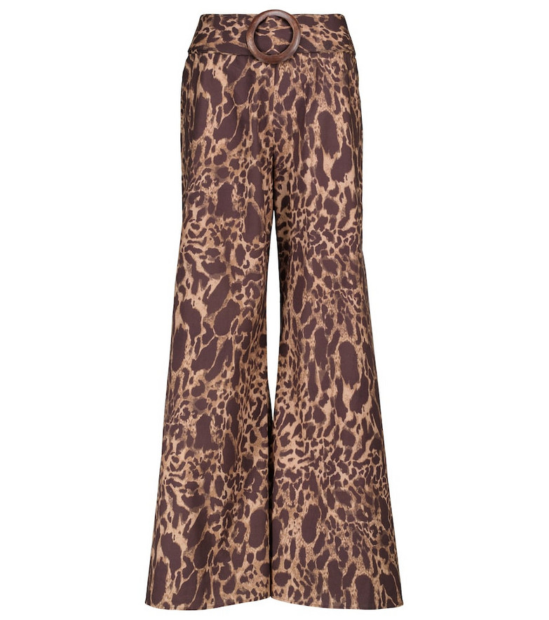 Alexandra Miro Exclusive to Mytheresa – Claudia leopard-print cotton pants in brown