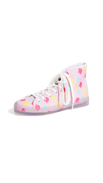 Ireneisgood Unicorn High Top Sneakers in pink