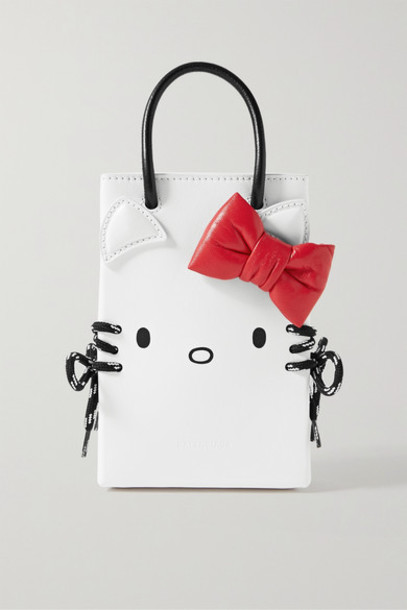 Balenciaga - Hello Kitty Mini Printed Leather Shoulder Bag - White