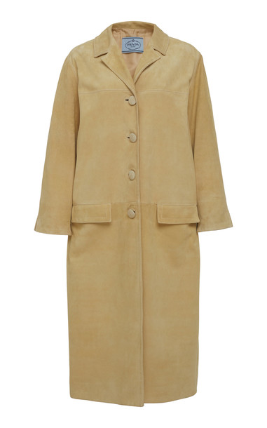Prada Suede Coat in neutral