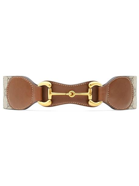 Gucci Horsebit leather belt in neutrals