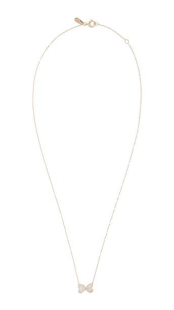 Adina Reyter 14k Pave Butterfly Necklace in gold