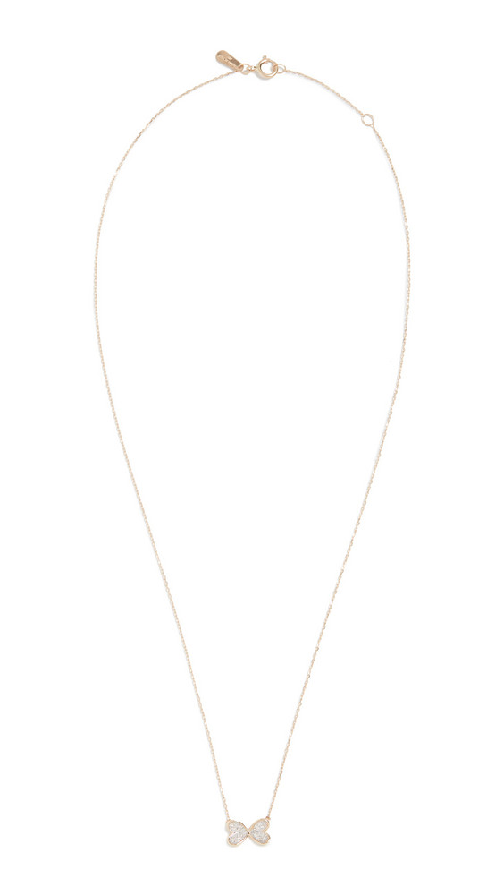 Adina Reyter 14k Pave Butterfly Necklace in gold