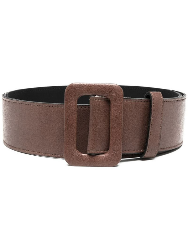 Federica Tosi square buckle belt in brown