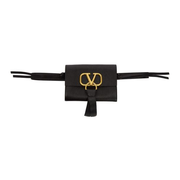 Valentino Black Valentino Garavani VRing Belt Bag