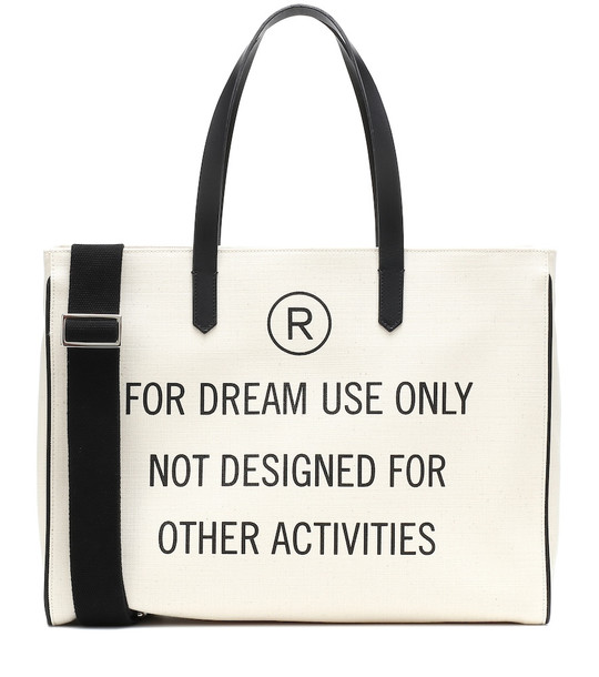Golden Goose California printed canvas tote in white