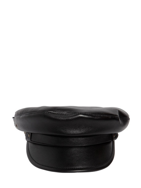 DSQUARED2 Leather Hat in black