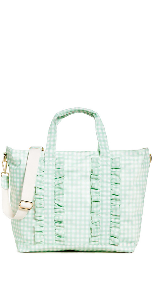 Stoney Clover Lane Ruffle Classic Tote in mint