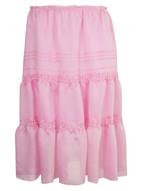 See by Chloé See By Chloé Ruched Organza Skirt in pink