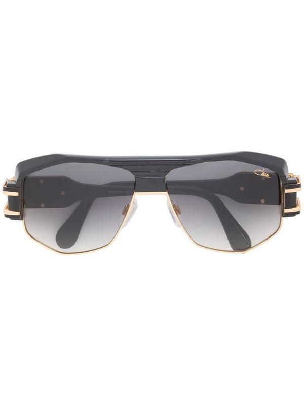 Cazal oversized aviator sunglasses in black
