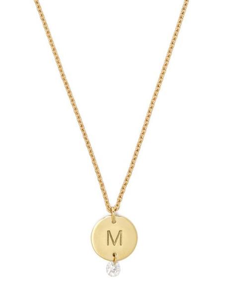 Raphaele Canot - Set Free 18kt Gold & Diamond M Charm Necklace - Womens - Gold