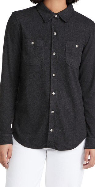 Faherty Legend Sweater Shirt in black