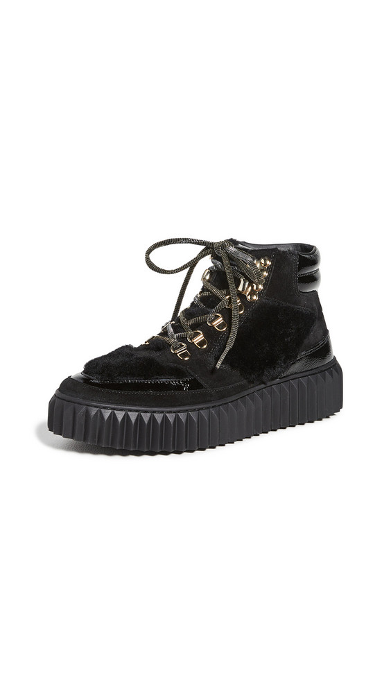 Voile Blanche Eva Shearling Hiker Boots in black
