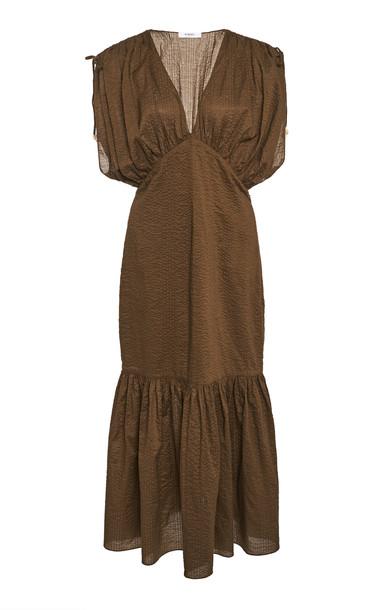 Marysia Monterey Midi Dress Size: XS in brown