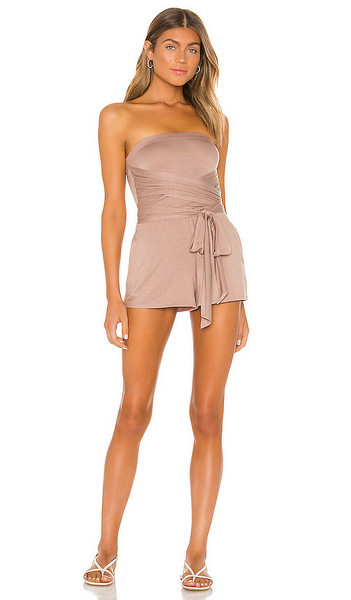 Lovers + Friends Lovers + Friends Sunshine Romper in Taupe