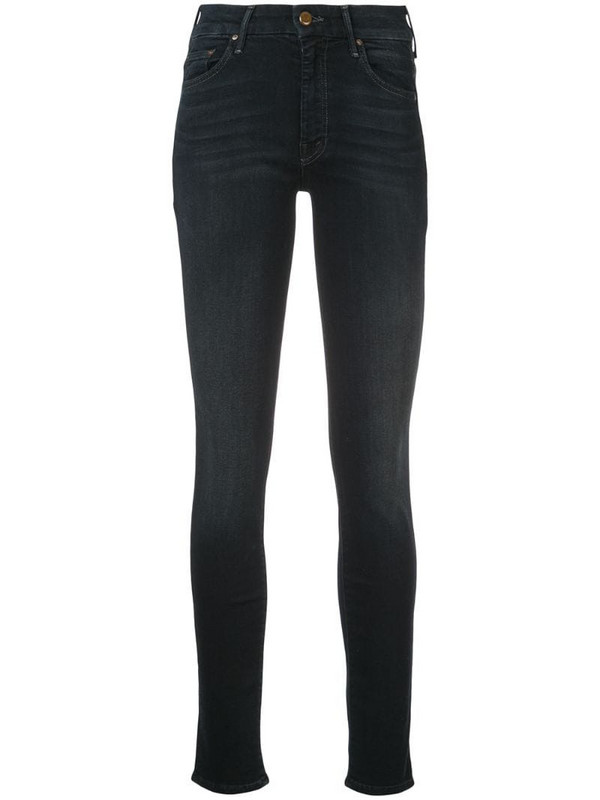 Mother skinny fitted jeans in blue