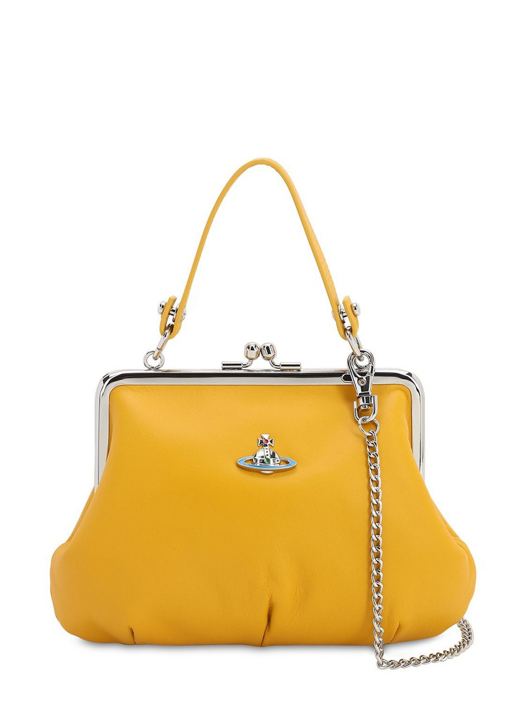 VIVIENNE WESTWOOD Emma Soft Leather Top Handle Bag in yellow