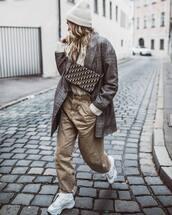 jacket,blazer,plaid,white sneakers,zara,boyfriend jeans,white sweater,crossbody bag,knit,hat