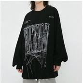 top,large print,aliexpress,black,harajuku,oversized,japan