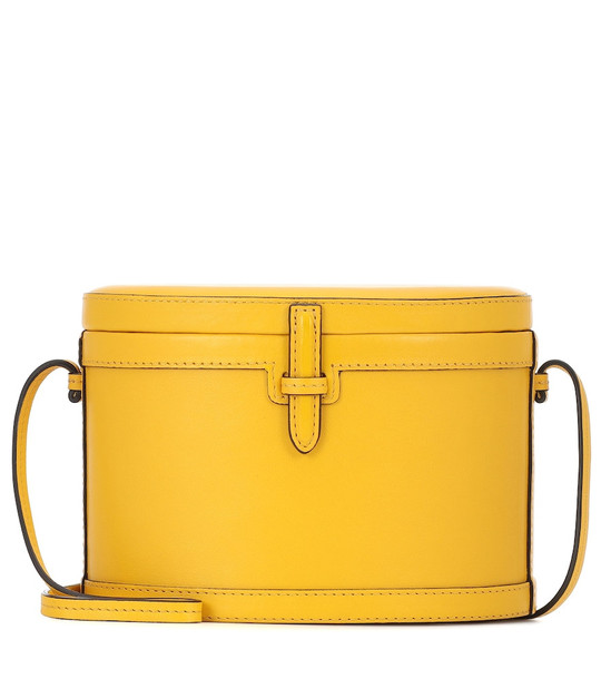 Hunting Season The Round Trunk leather shoulder bag in yellow