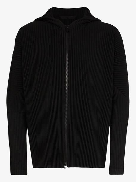 Homme Plissé Issey Miyake pleated zipped hooded sweatshirt