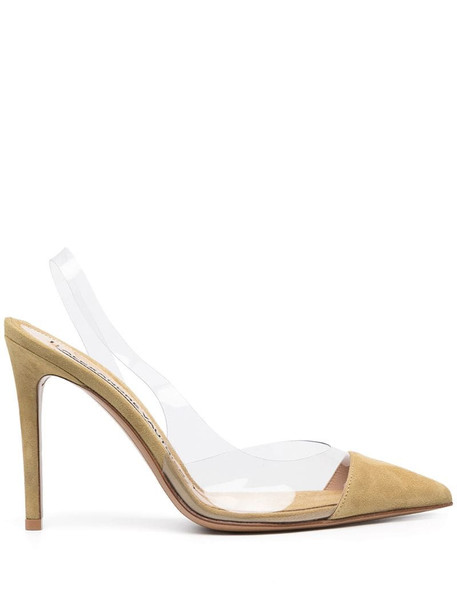 Alexandre Vauthier transparent-strap pointed pumps in green
