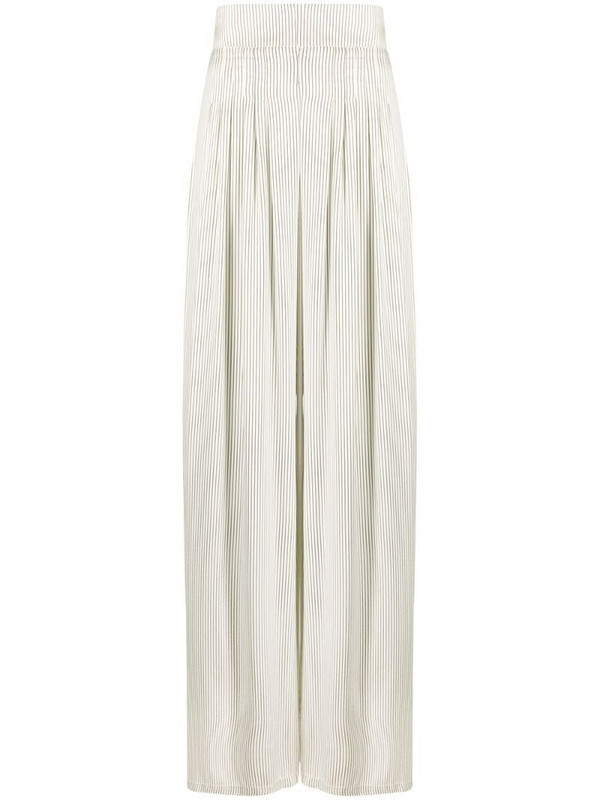 Hebe Studio high-waisted striped skirt in neutrals