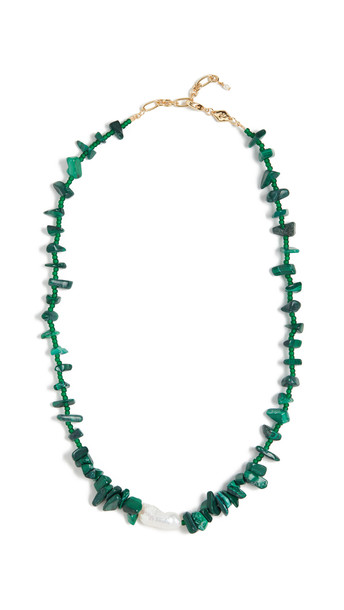 Anni Lu Ines Necklace in stone / green
