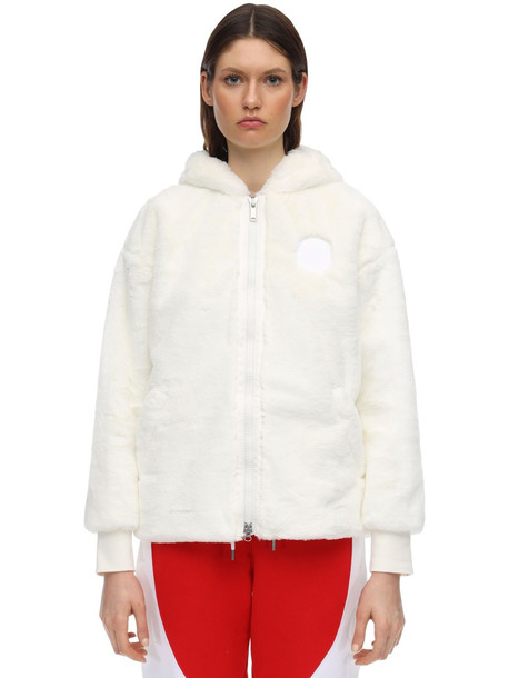 NIKE Jordan Psg Faux Fur Jacket in cream
