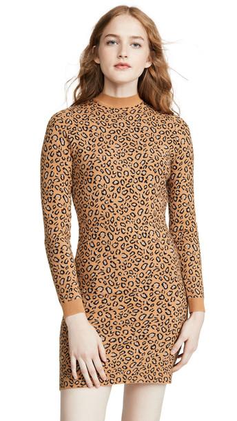 leRumi Talia Sweater Dress in leopard