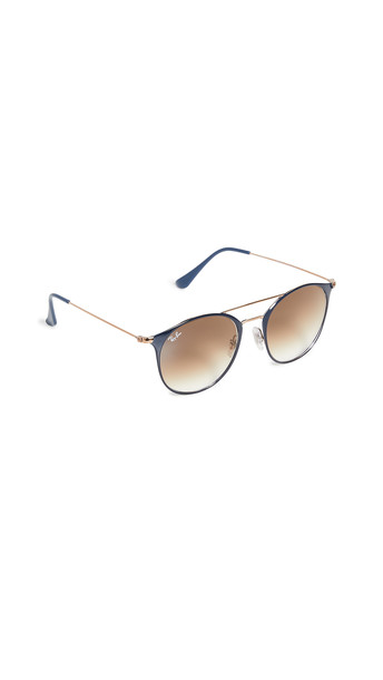 Ray-Ban Highstreet Phantos Aviator Sunglasses in blue / brown / copper / clear