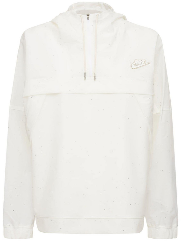 NIKE Earth Day Hooded Anorak in white