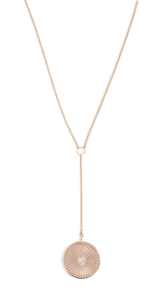 Zoe Chicco 14k Medium Lariat Necklace in gold / yellow