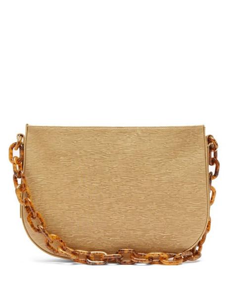 By Far - Pelle Chain Handle Faille Shoulder Bag - Womens - Beige