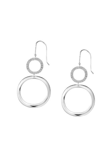 IPPOLITA sterling silver Stardust medium open diamond snowman earrings