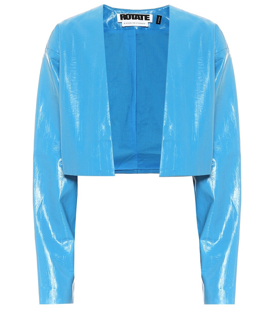 ROTATE BIRGER CHRISTENSEN Magrit faux-leather jacket in blue