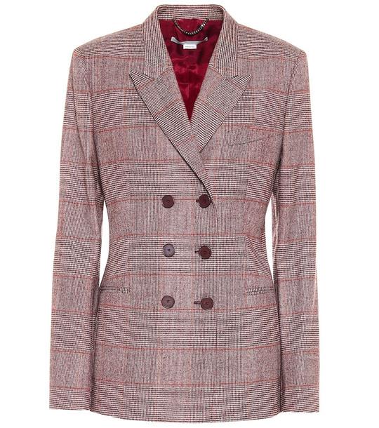 Stella McCartney Double-breasted wool-blend blazer in grey