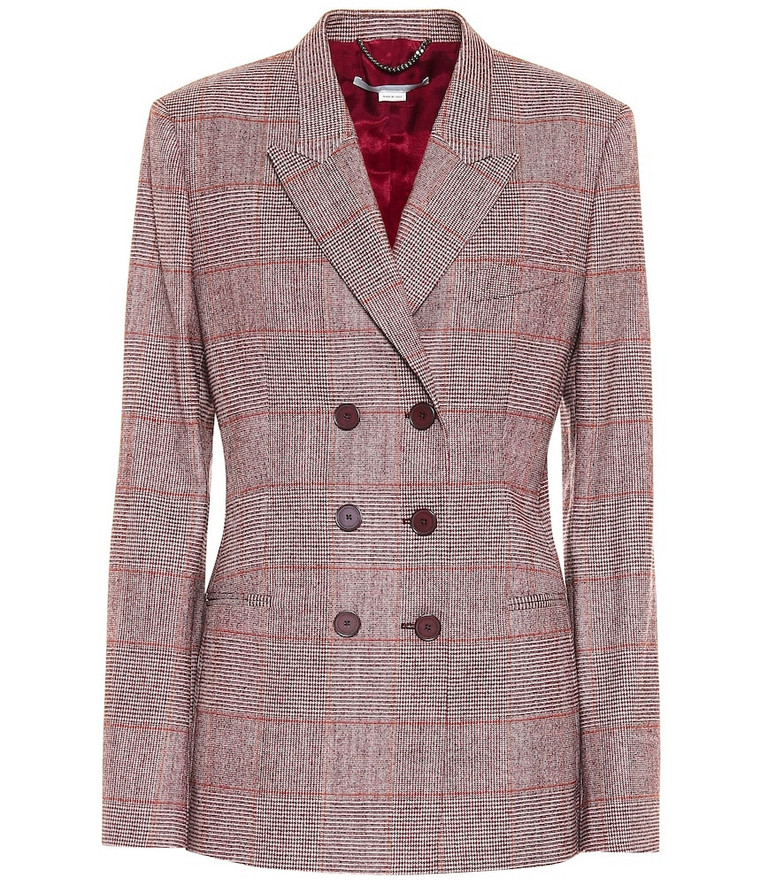 Stella McCartney Double-breasted wool-blend blazer in grey