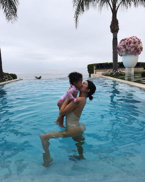swimwear kylie jenner kardashians celebrity one piece swimsuit